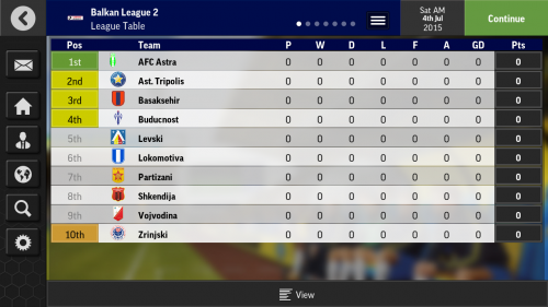 Screenshot for Balkan League Database
