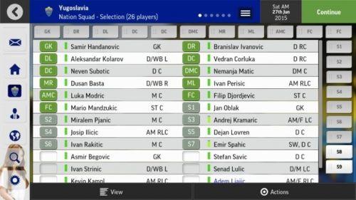 Screenshot for Yugoslavia National Team Save File