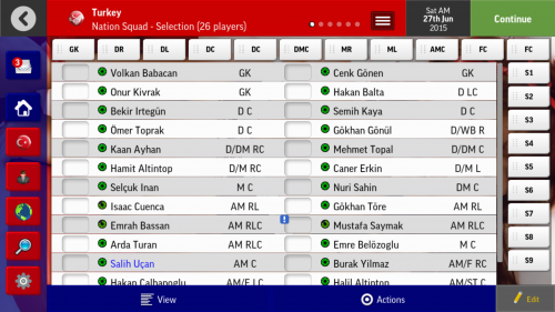 Screenshot for Playable Turkey National Team save