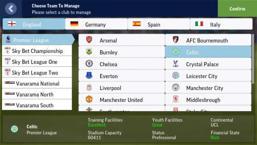Screenshot for Celtic on Premier League?