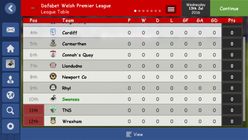 Screenshot for Welsh clubs moved from England to Wales