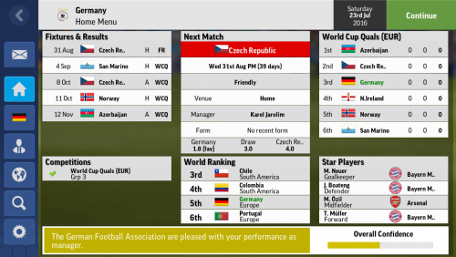 Screenshot for Germany National Team Save with February Database