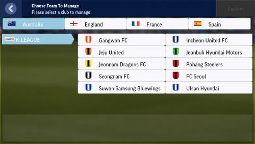 Screenshot for K-League roster update 0.0.2 version
