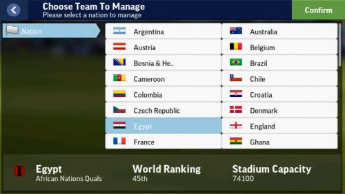 Screenshot for More Playable National Team Database