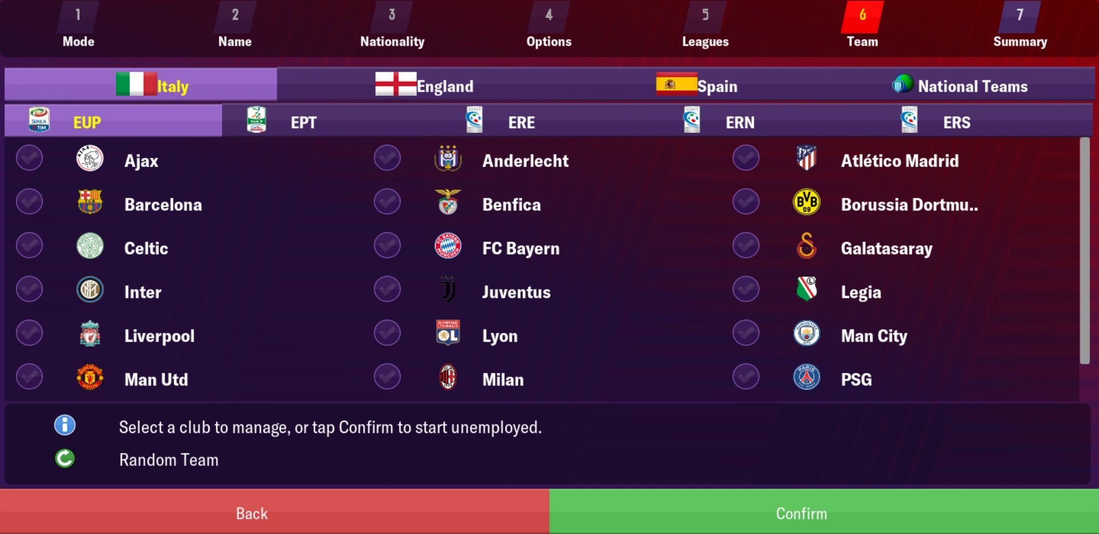 European Super League - Football Manager 2019 Mobile - FMM Vibe