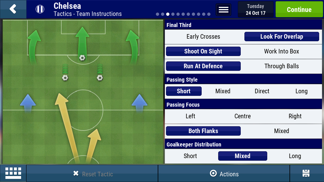 433 unbeaten tactic - Football Manager Mobile 2018 - FMM Vibe