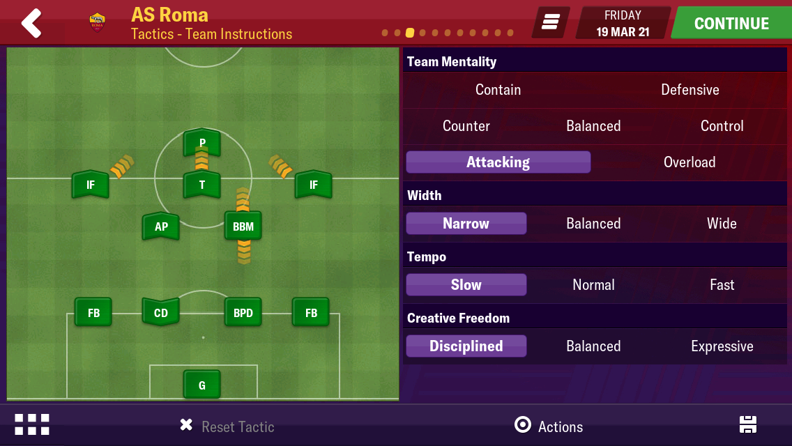 4-2-3-1 as roma winning tactic EME - Football Manager 2019