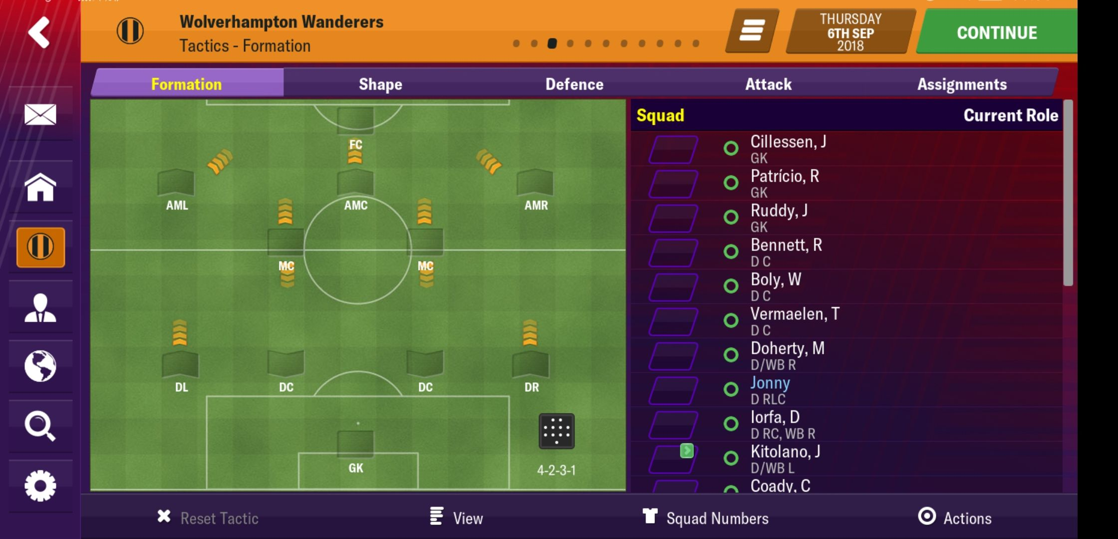 High pressing Wolves with a trequarista - Football Manager