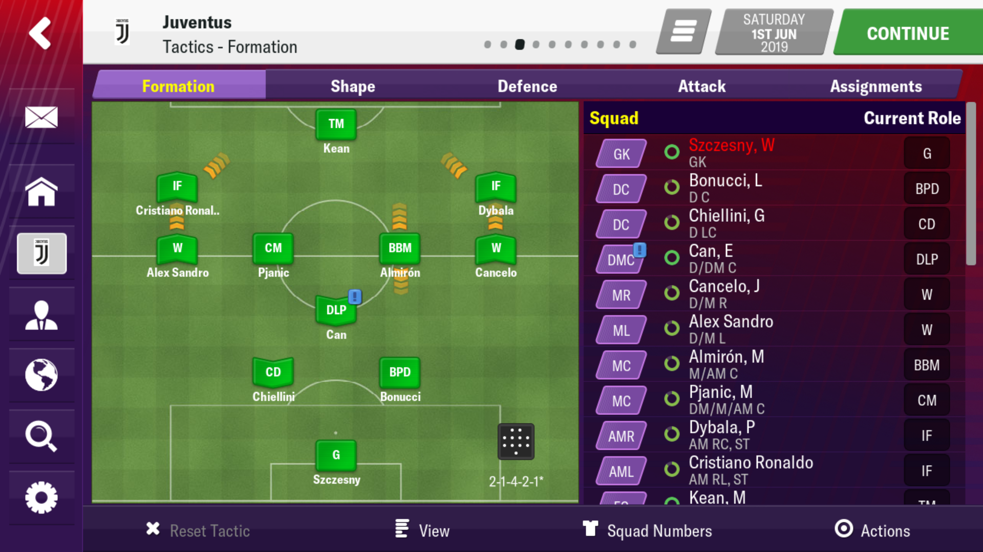 Lynch S Eme Juventus Ucl Comeback Tactic Football Manager 2019 Mobile Fmm Vibe