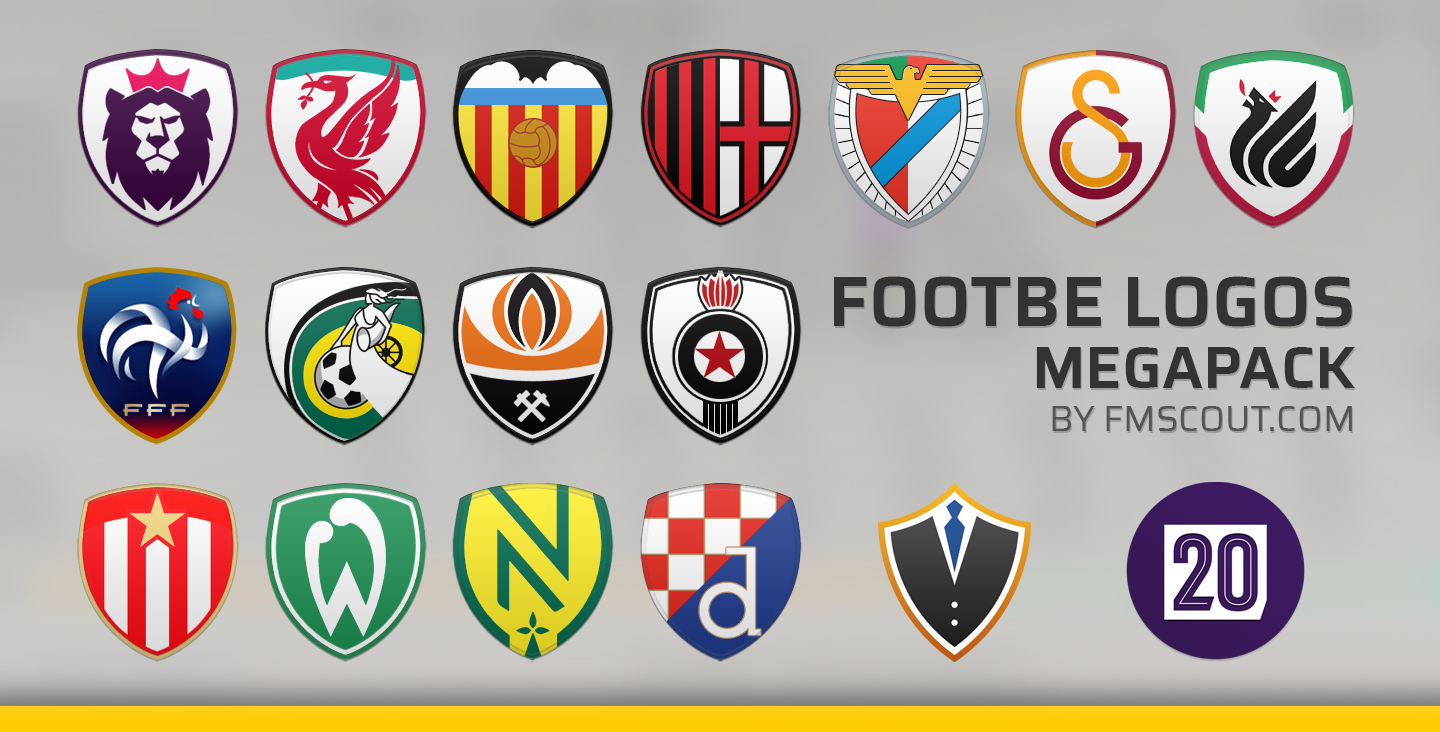Footbe Logos Megapack Football Manager 2020 Mobile Fmm Vibe