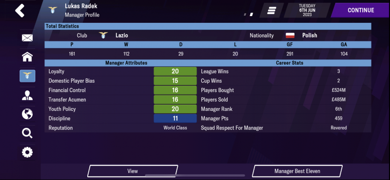 Manager Profile